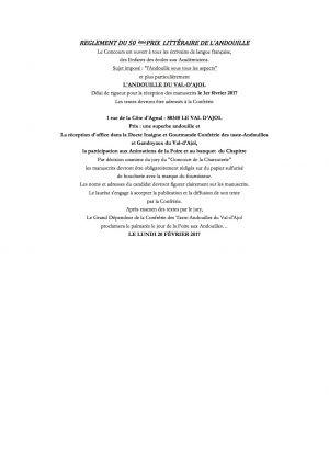 REGLEMENT DU 50 Ème PRIX LITTÉRAIRE DE L